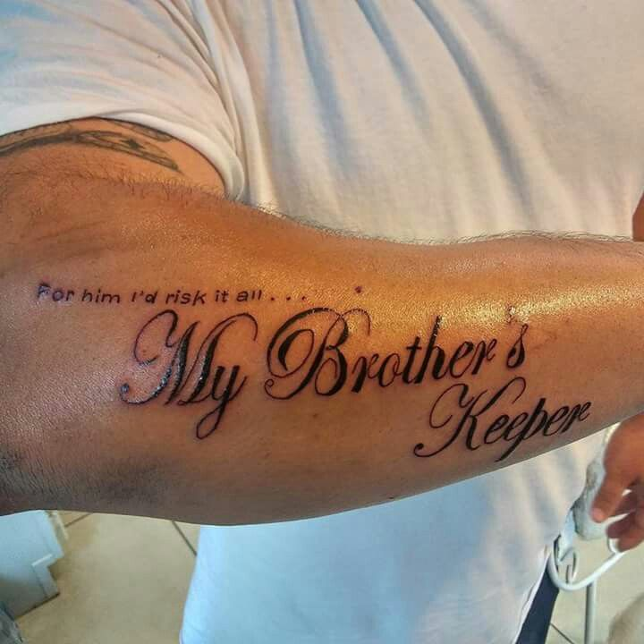 "Fine Line Tattoos ""My Brothers Keeper"""