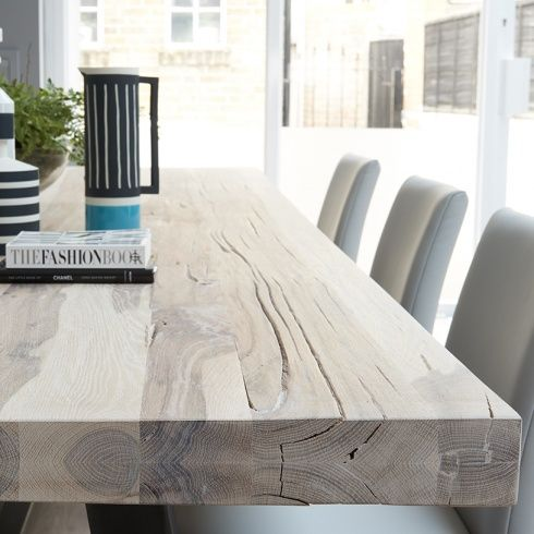 Bolt Wood Dining Table Metal Legs Home Inspo