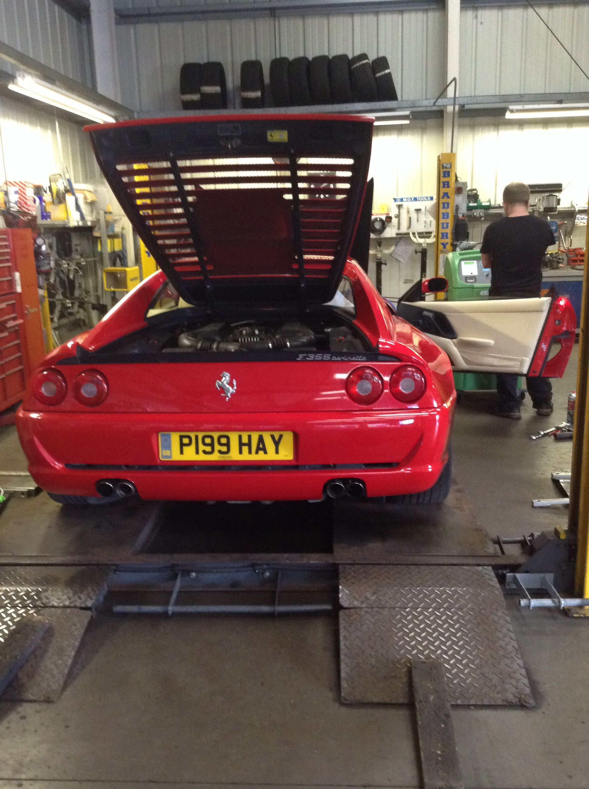 Air Conditioning repair and recharge on Ferrari 355 (With