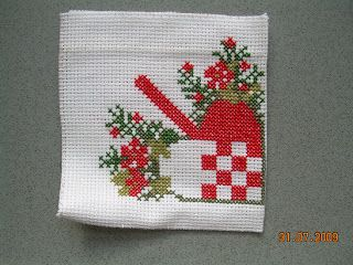 Christmas embroidery for potholders