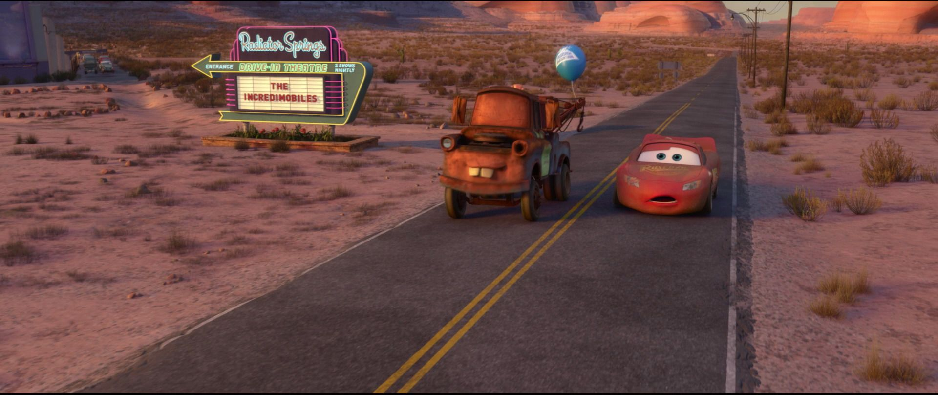 The Incredimobiles Radiator Springs Lightning Mcqueen Pixar