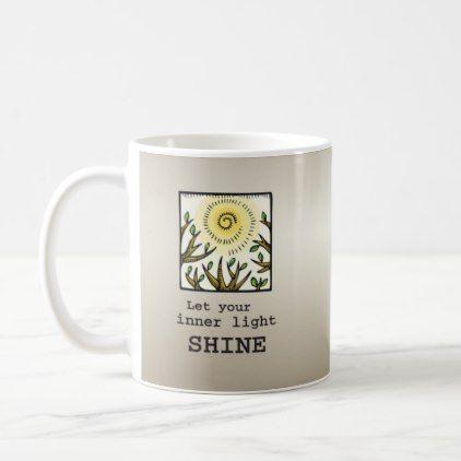 Inner Light Shine 12 Step Recovery Anniversary Coffee Mug Gifts Ideas Diy Celebration Cyo