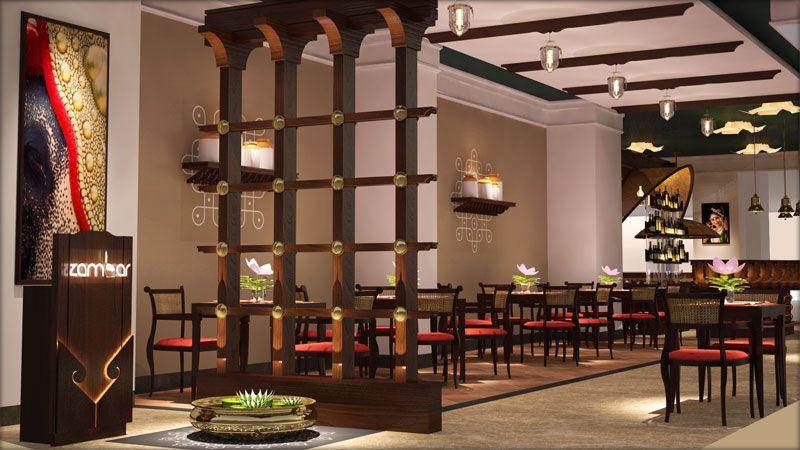 Zambar Amanora Restaurant Designed By Schopfer Architects Interior Designers Indian Interior Design Restaurant Design Indian Home Interior