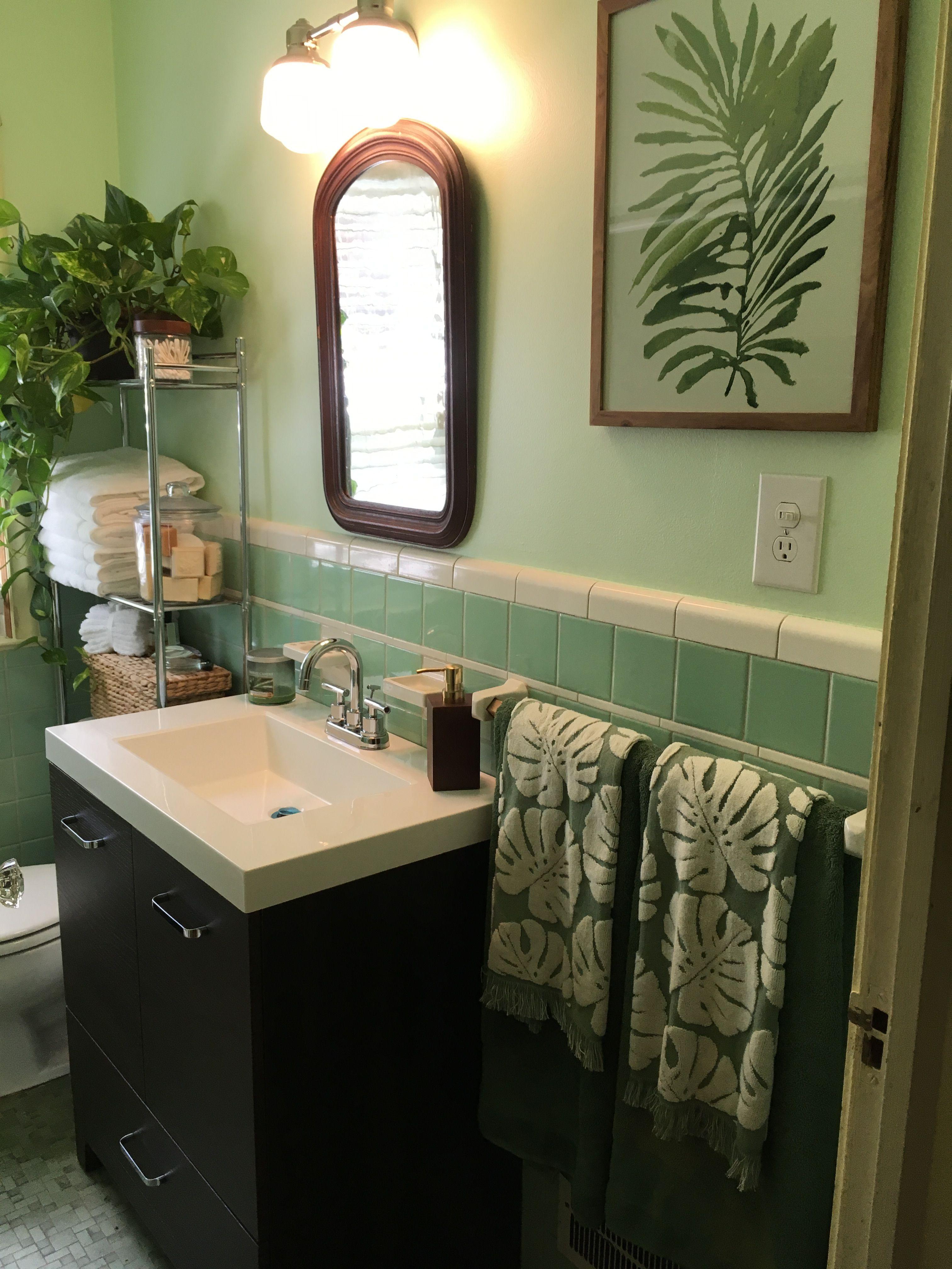 Vintage Mint Green Sea Foam Bathroom Green Bathroom Seafoam