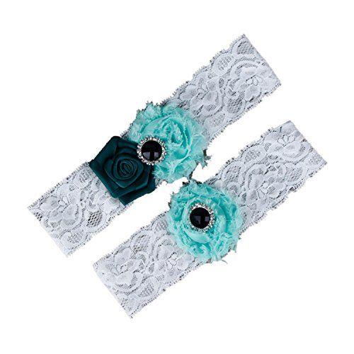 Dreamlan Womens Lace Garters Multi Colors with Crystal Green Mint Dreamlan http://www.amazon.com/dp/B01AHZAJSA/ref=cm_sw_r_pi_dp_dsM1wb1B8JRJ2