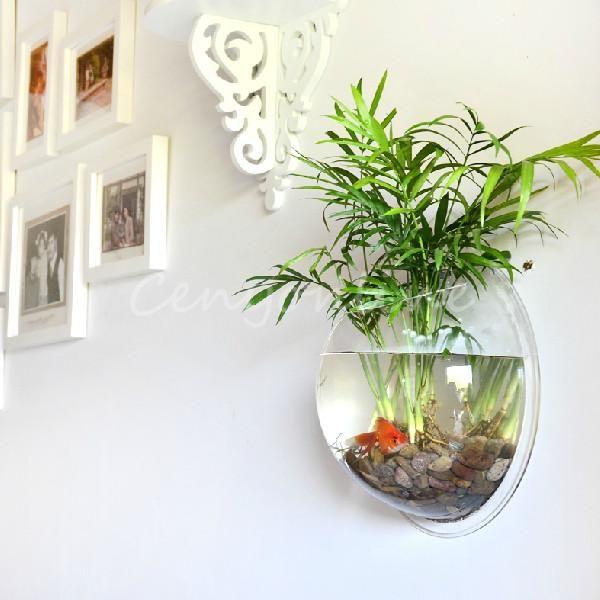 Creative Wall Mounted Hanging Bowl Aquarium Fish Tank Plant Home Decoration Pot | eBay