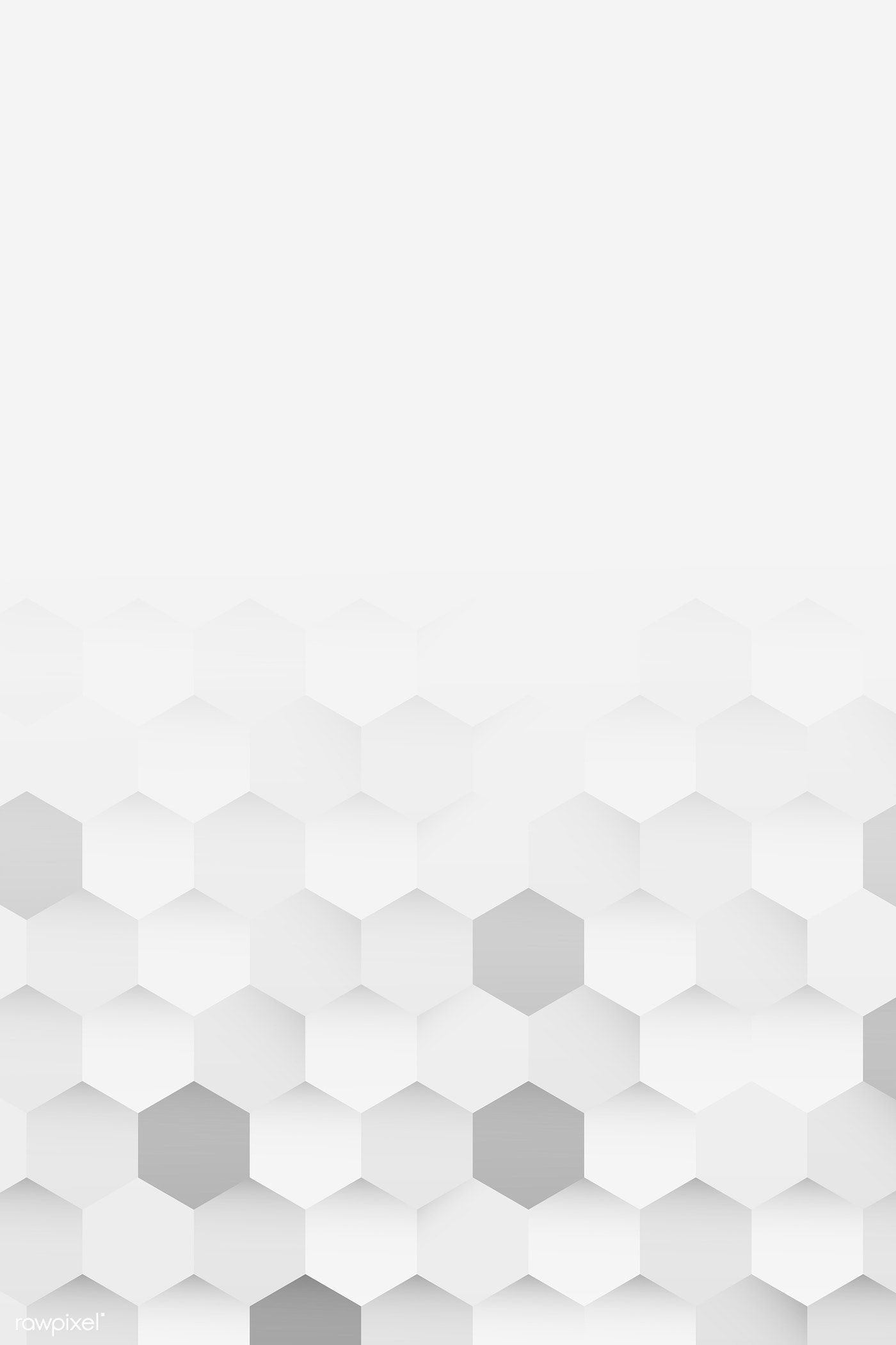 Download Premium Vector Of White And Gray Hexagon Pattern Background