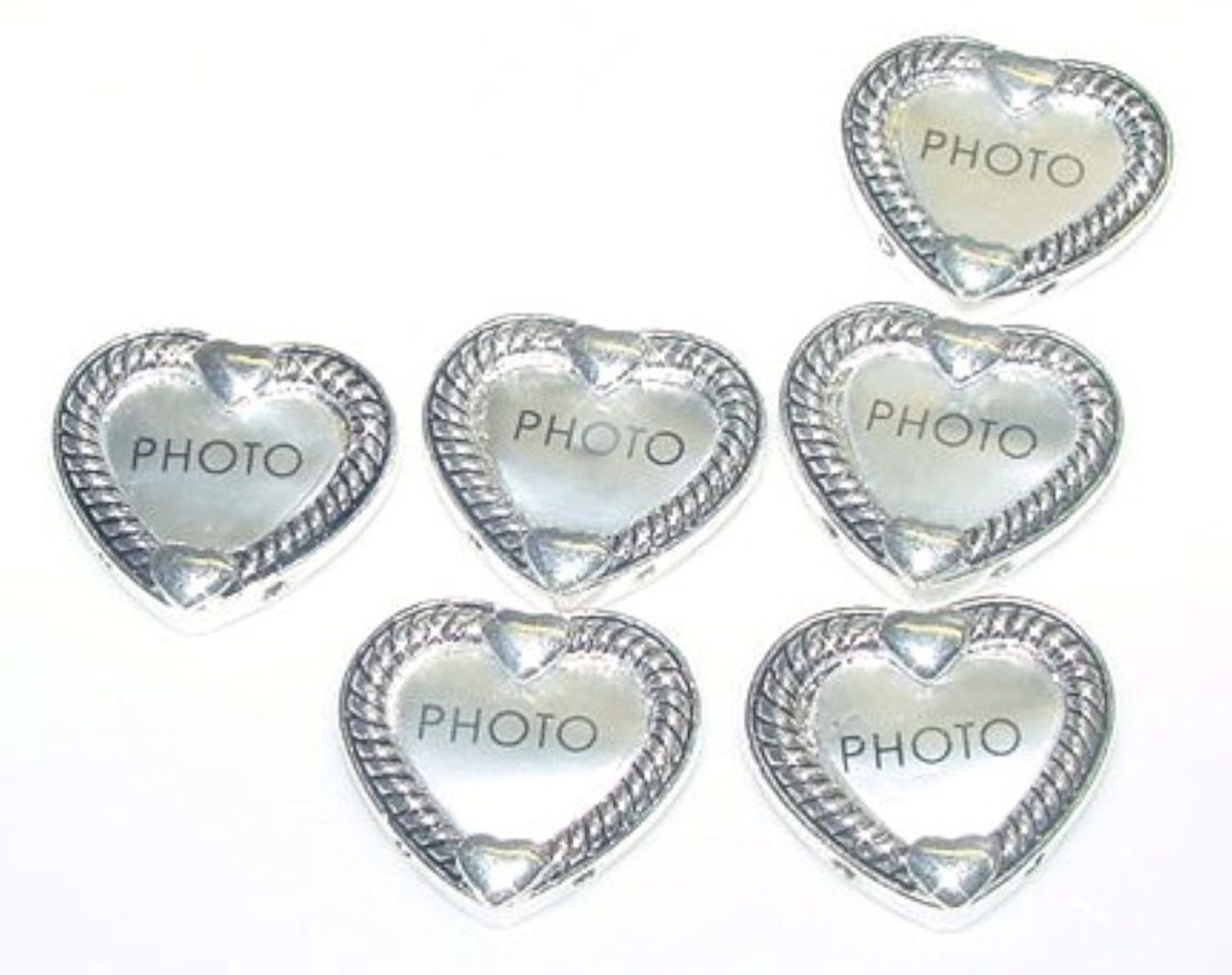 6 heart shaped photo picture frame 2 hole beads holder mobile 6 heart shaped photo picture frame 2 hole beads holder mobile boutique jeuxipadfo Gallery