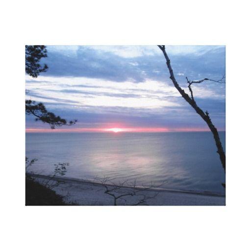 Sleepy Beach sunset Canvas Print #zazzle #artwork
