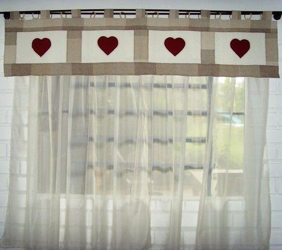 Tampo e patchwork manta de fibra forro bordado em aplica o de cora es quiltado e cortina - Cortinas de bano transparentes ...