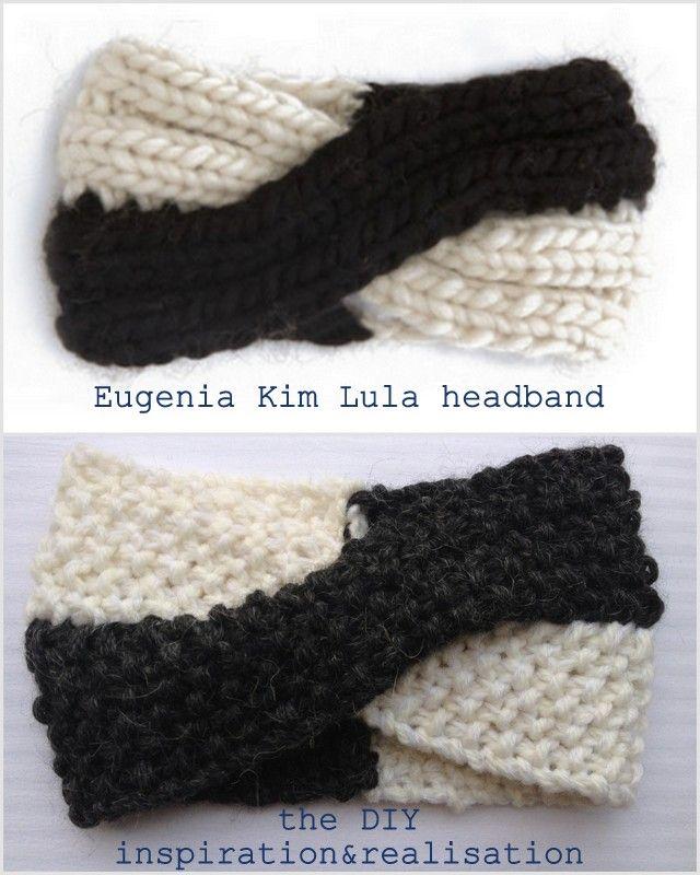 DIY two-tone twisted headband inspired by Eugenia Kim