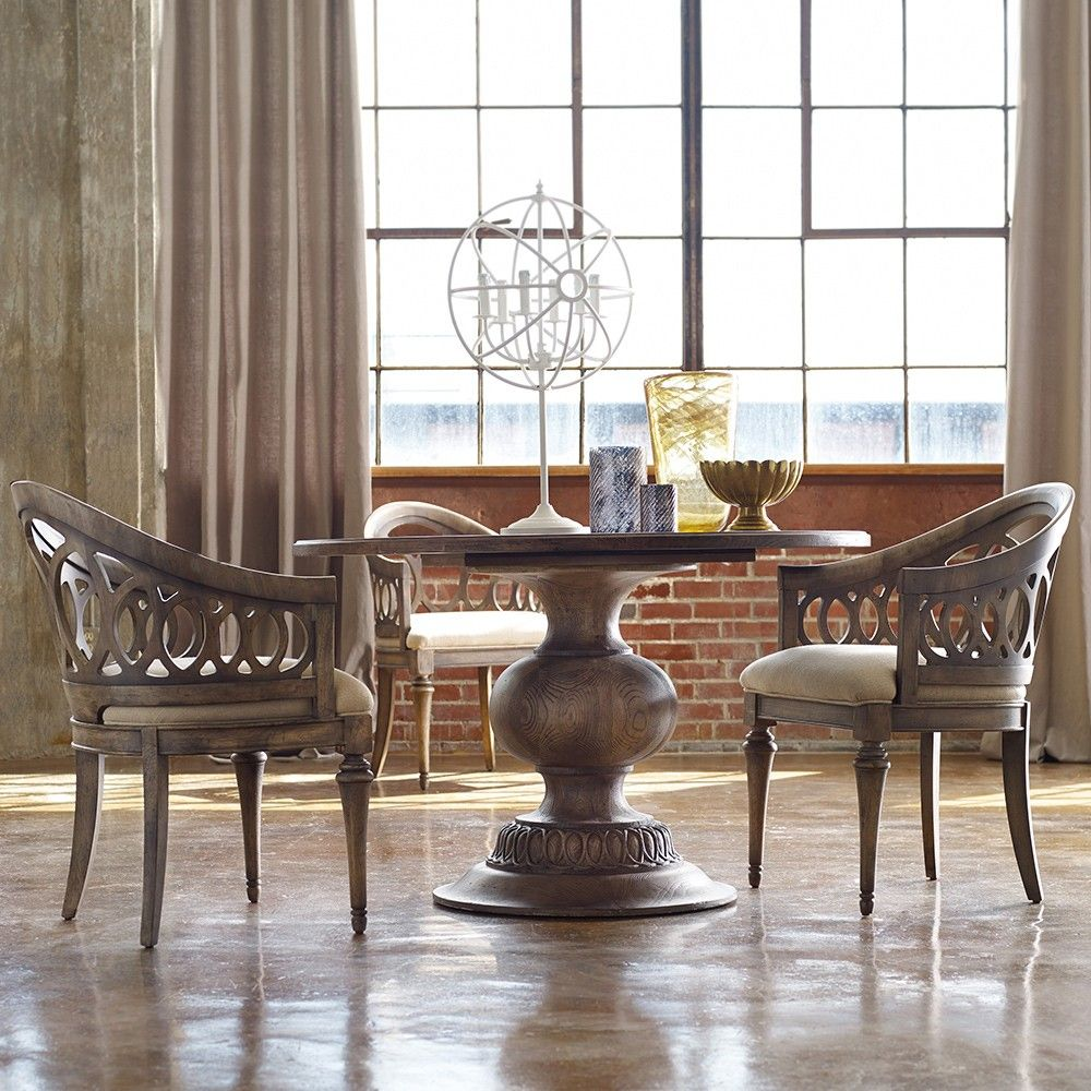 Melange Cambria Wood Round Dining Table By Hooker Furniture