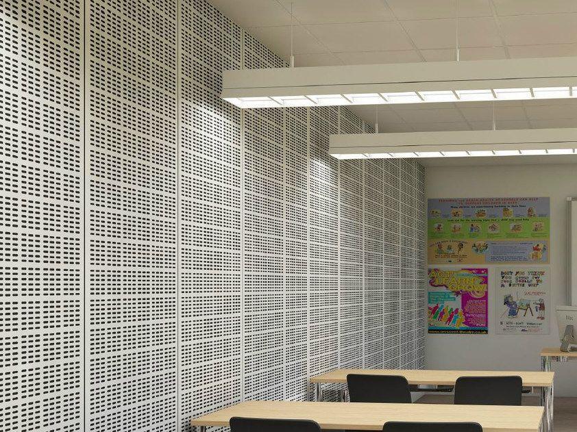 Rock Wool Sound Insulation Panel Rockfon Vertiq Metal By Rockfon Sound Insulation Acoustic Wall Panels Acoustic Wall