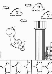 Yoshi Coloring Pages Avec Images Anniversaire Super Mario