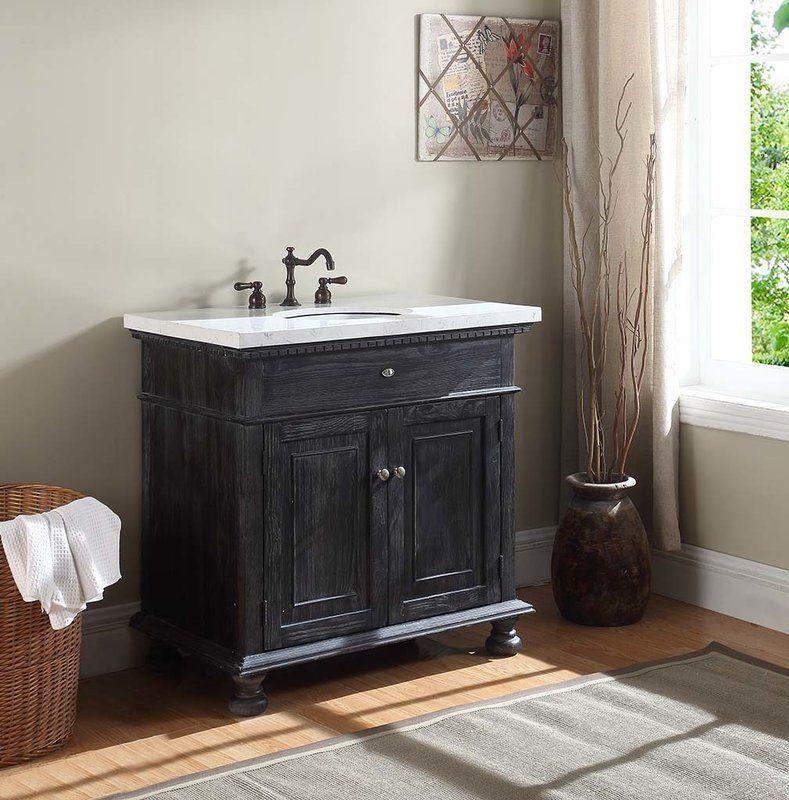 "Franklin 35"" Single Bathroom Vanity Set Rustic bathroom"