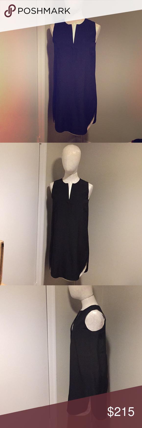 Nwt Vince Black And White Dress Black N White Dress Vince Dress Black And White [ 1740 x 580 Pixel ]
