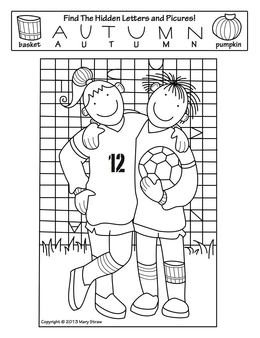 Fall Activity Coloring Pages Autumn teaching ideas