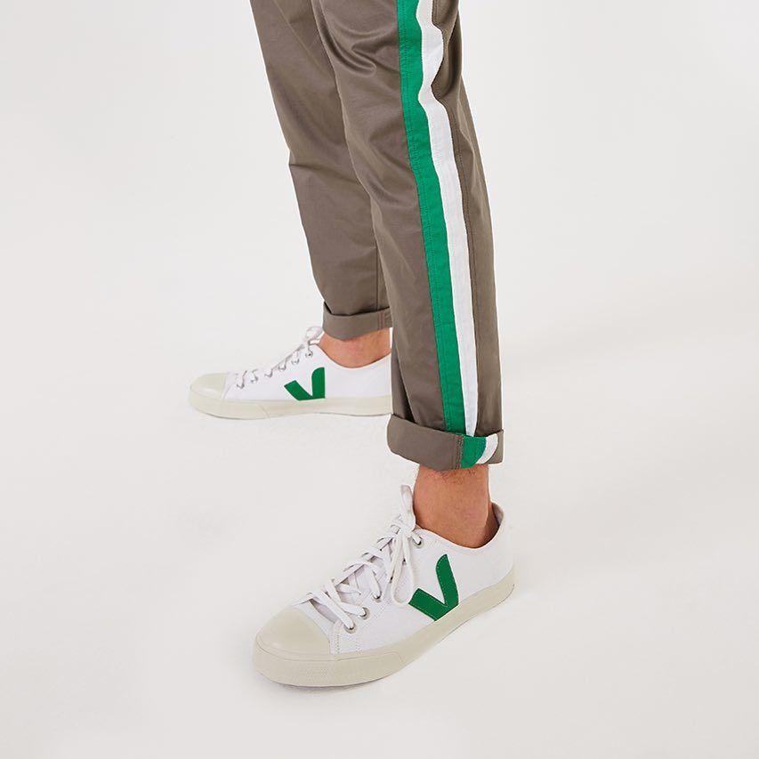 Veja Baskets Wata Homme White Emeraude Chaussures Basses