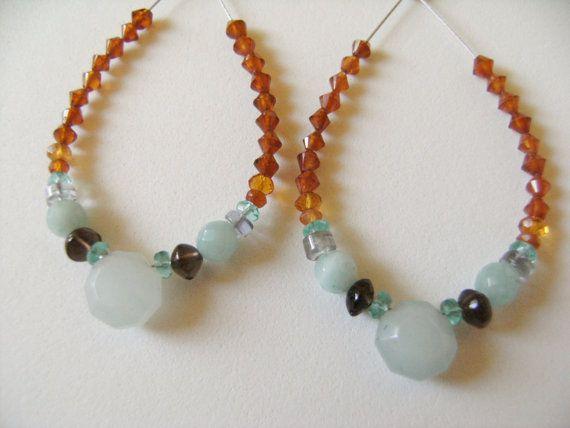 NEW SALE ITEM Handmade Artisan Gemstone Earrings by 2bYours
