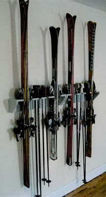 Vintage skis wall storage welcome to guidarax ski for Rack pour garage