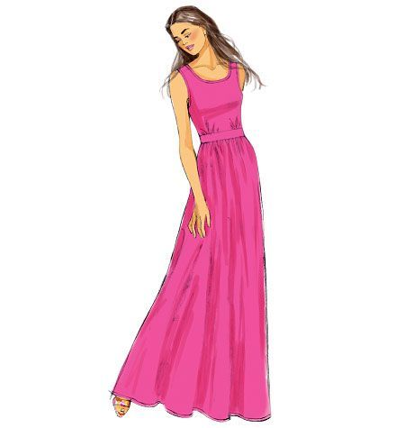 Schnittmuster Kleid Maxikleid Butterick 6051