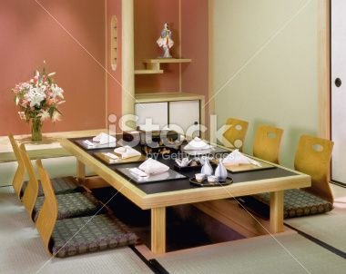 Traditional Japanese Dining Table Tokyo Japan Furniture Sets