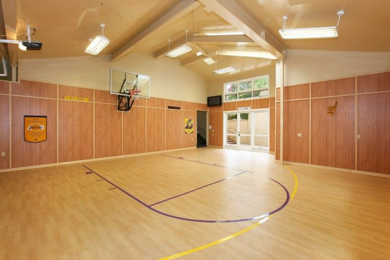 Painting Of Indoor Basketball Court Healthy Support For More Private And Fun Exercise Indoor Basketball Court Indoor Basketball Basketball Court
