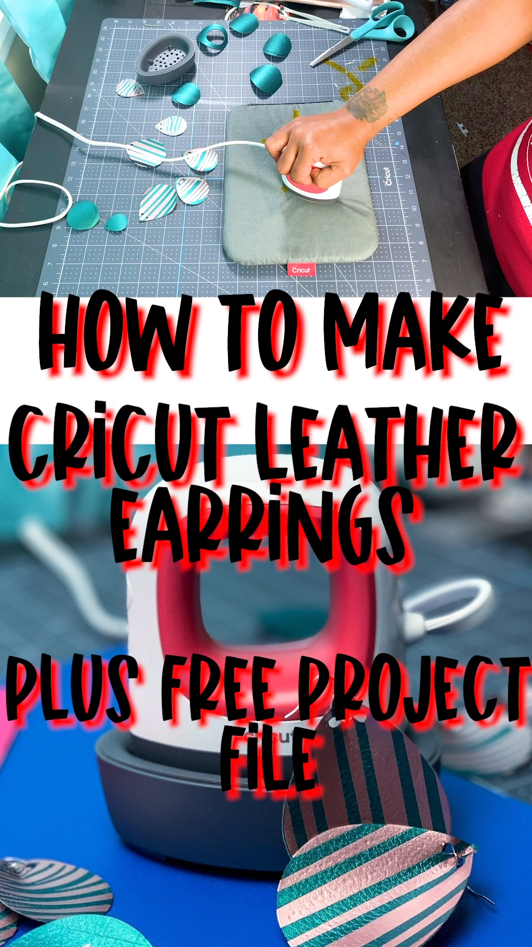 How To Make Leather Earrings With A Cricut Easy Press Mini