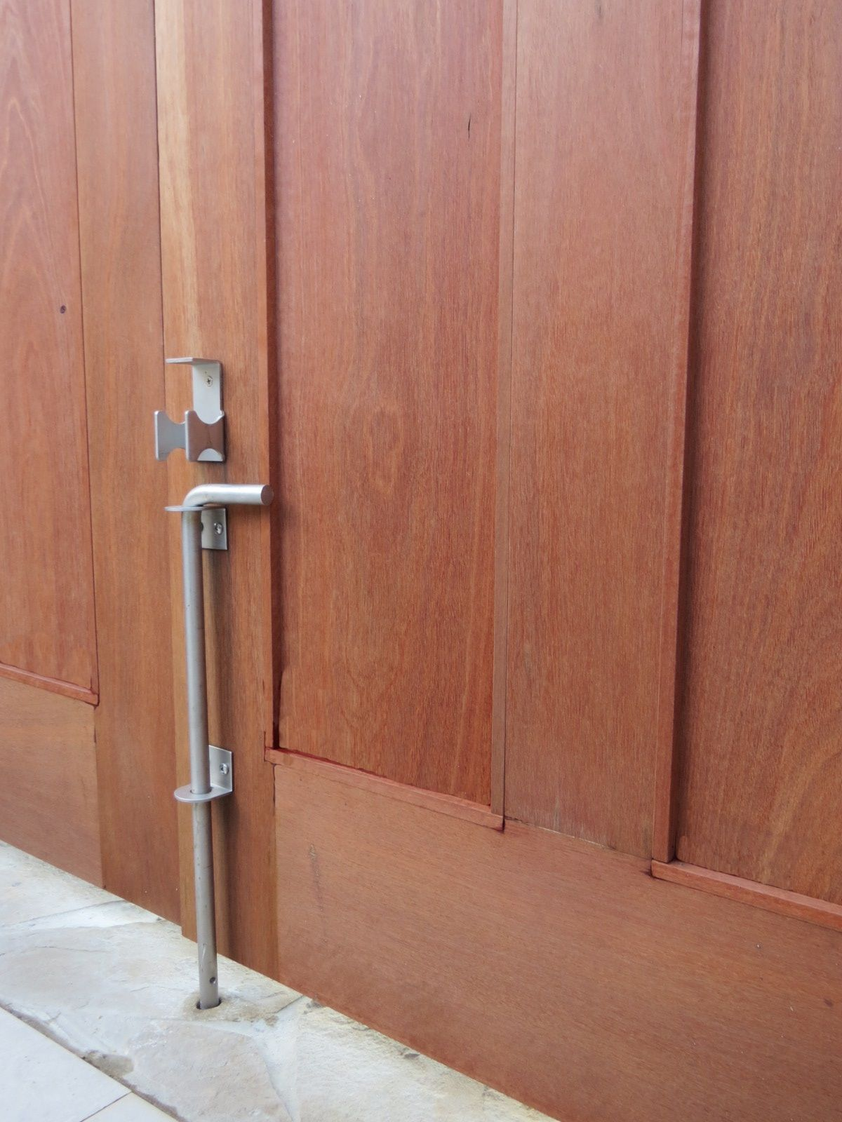 On Double Gates A Cane Bolt Can Be Used To Hold Open