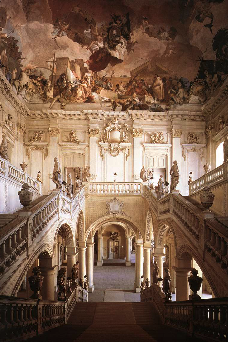 Johann Balthasar Neumann Staircase Residence Of W Rzburg