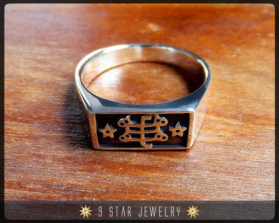Brs10 Silver Bahai Ringstone Symbol Ring By 9starjewelry On Etsy