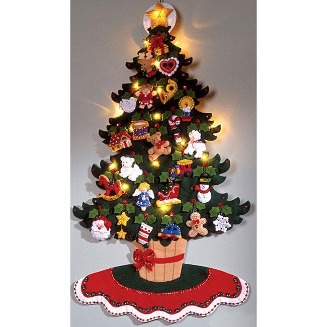 Christmas Tree Advent Calendar Felt Applique Kit   FELT CRAFTS ...