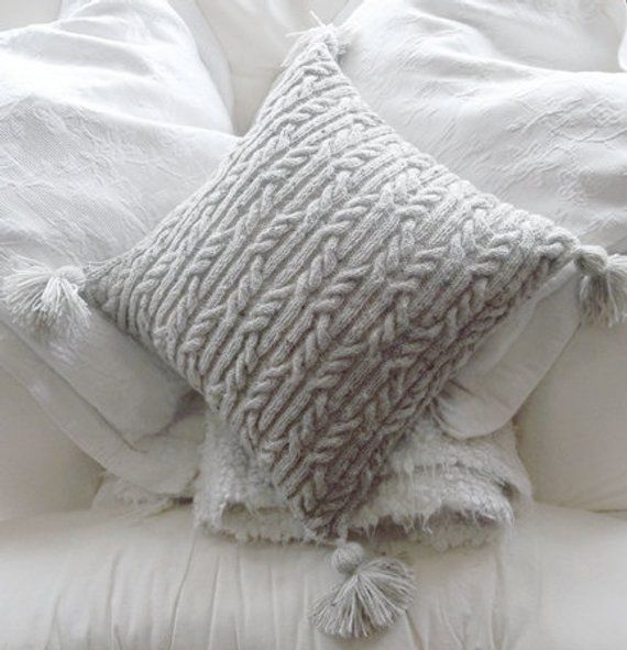 Aran Trellis Cable Cushion/Pillow Hand Knitting Pattern ...
