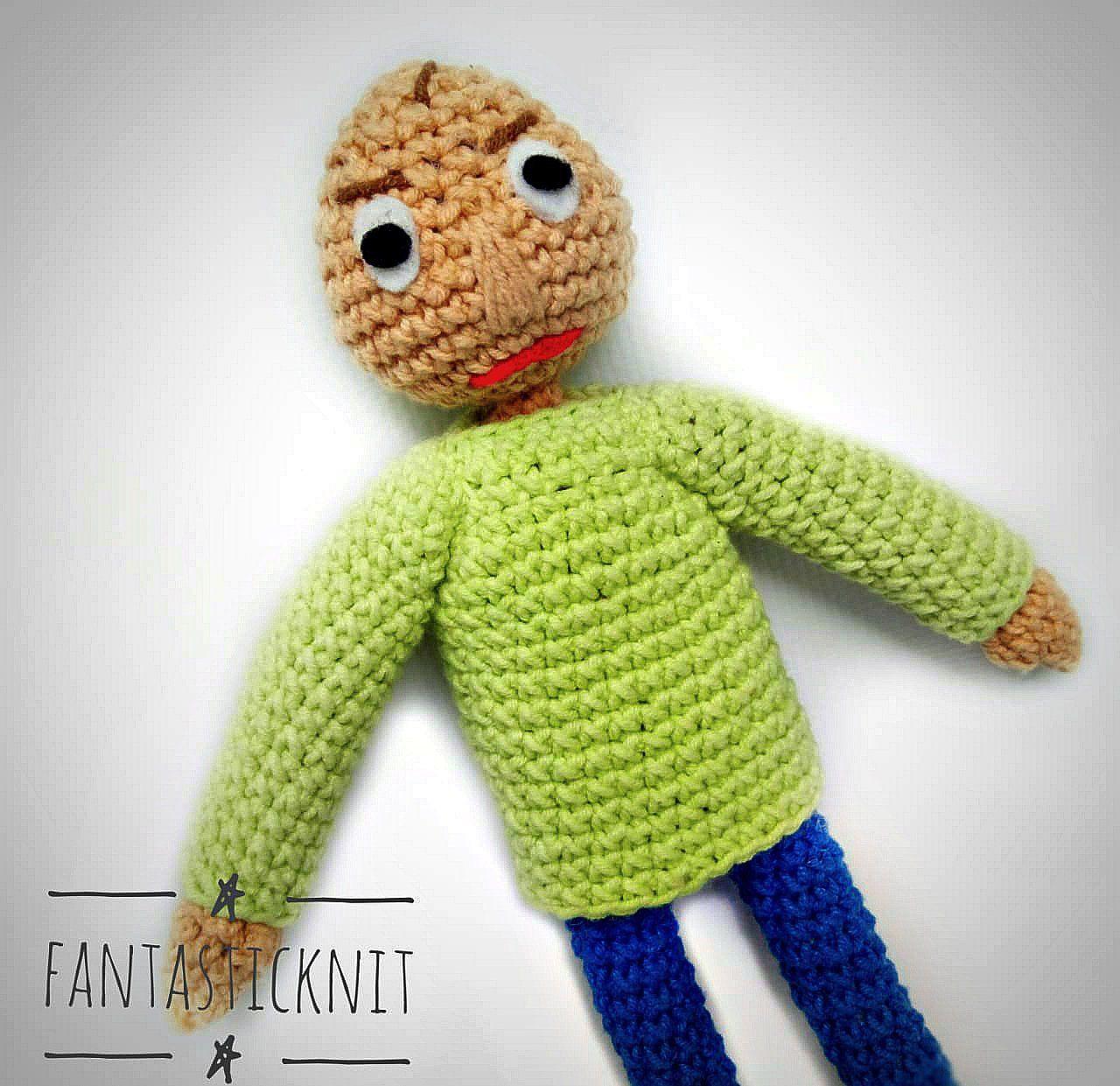 Baldi Crochet Baldi S Basics In Education And Learning Handmade Soft Toy Handmade Soft Toys Crochet Handmade