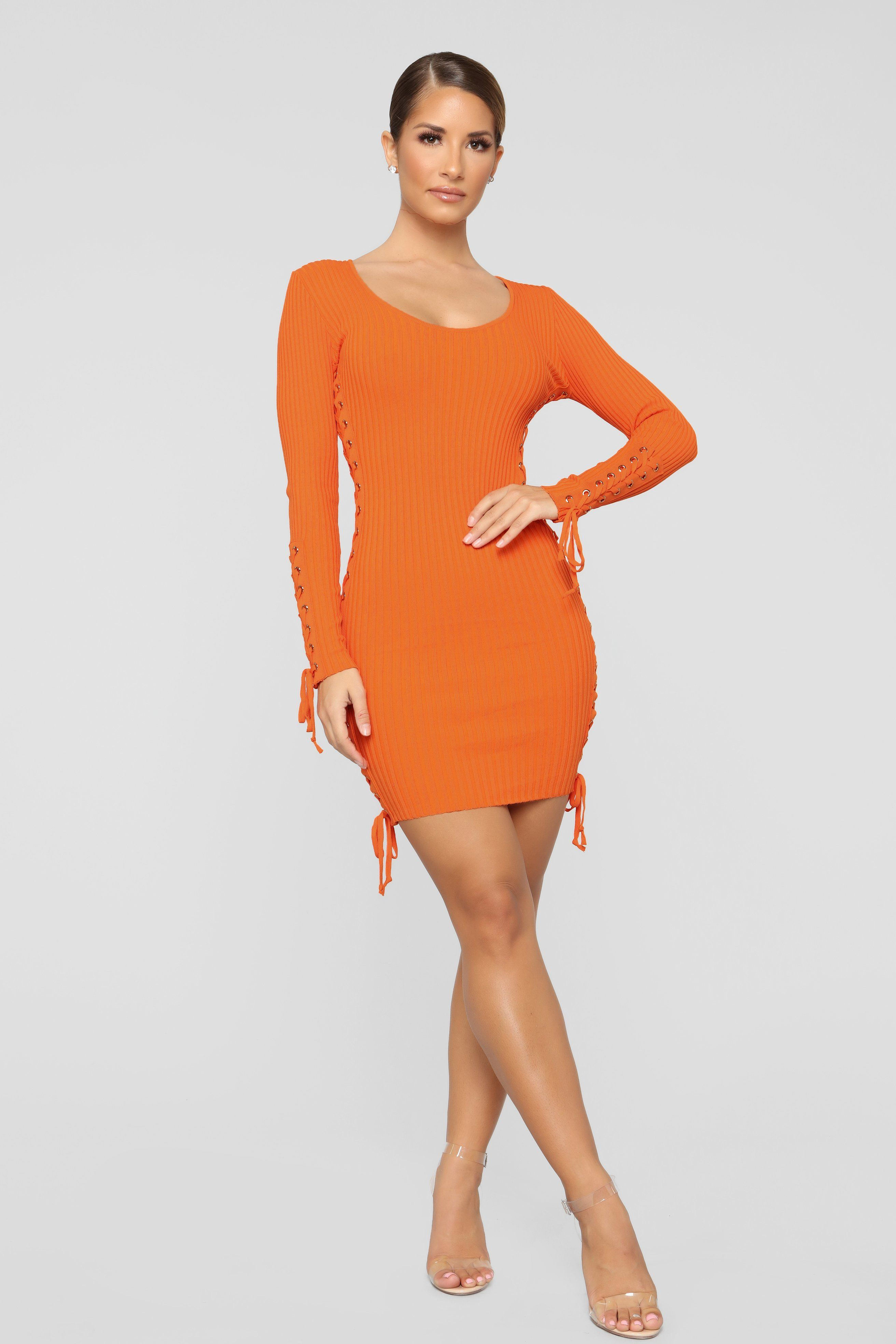7eeefa50540 Pull Some Strings Sweater Dress - Orange in 2019