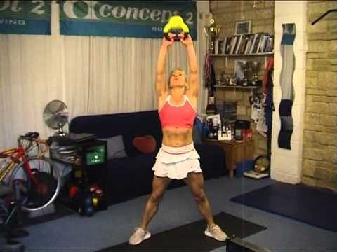 kettleball demonstration helpful to see video and shows how many/how many sets