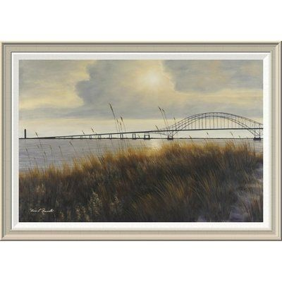 "Global Gallery 'Leisure Time on Long Island' by Diane Romanello Framed Painting Print Size: 28"" H x 40"" W x 1.5"" D"