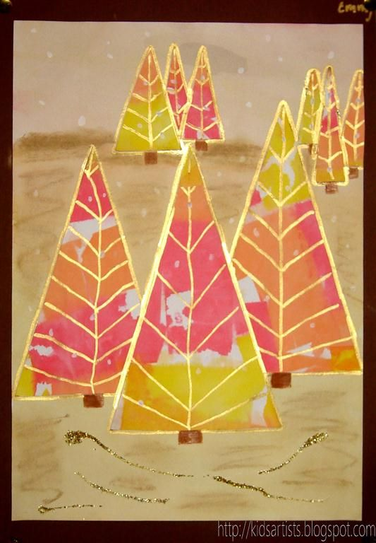 Kids Artists Colourful Christmas Trees Christmas Art For Kids Artists For Kids Art For Kids