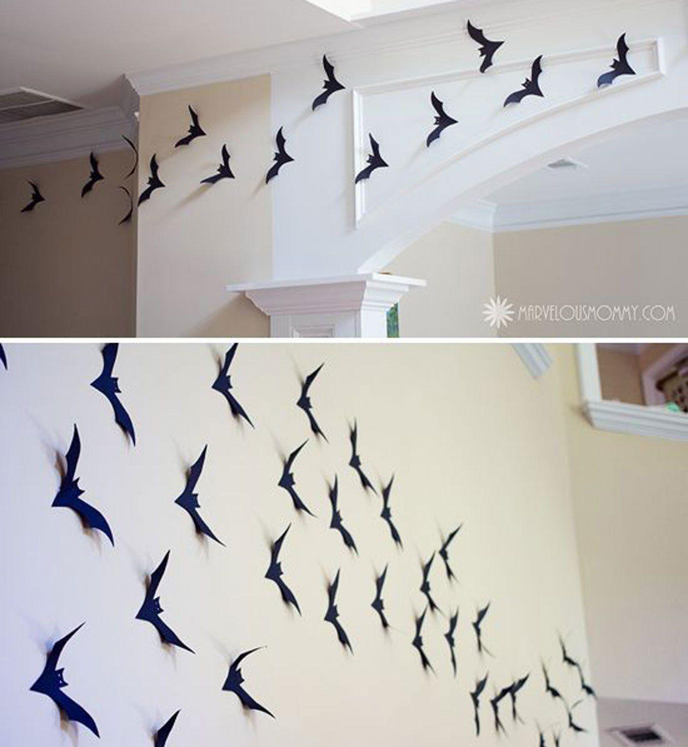 mur de chauve souris halloween id e pinterest chauve souris souris et mur. Black Bedroom Furniture Sets. Home Design Ideas