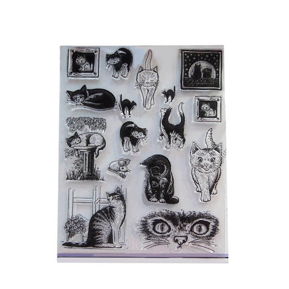 Crafts Clear Decorative Scrapbooking Animal Transparent Stamp Silicone Rubber