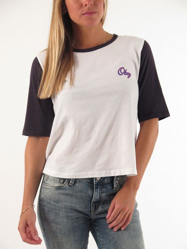 Script 1/2 Sleeve T-Shirt for women by Obey