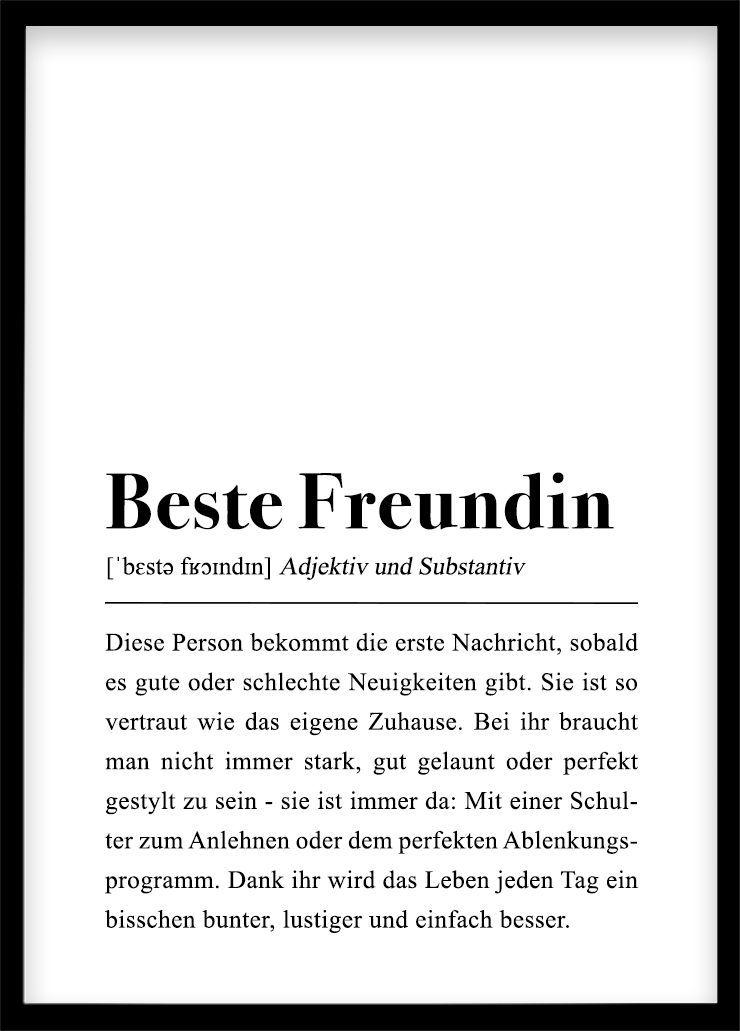 Beste Freundin Poster Geschenk - #Beste #freundin #