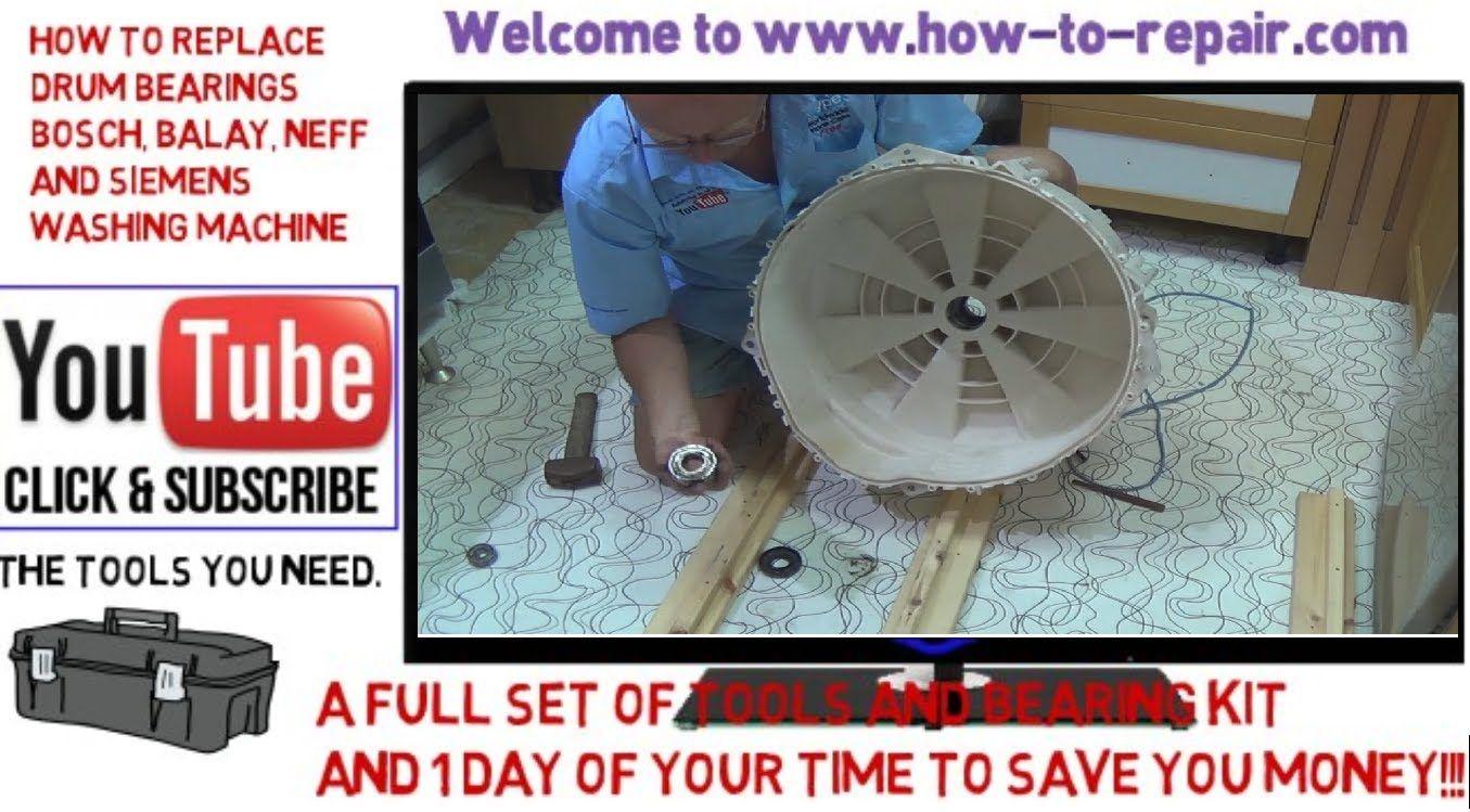How To Replace Washing Machine Bearings On Bosch Neff Siemens And Some Balay Washing Machine Washer Repair Best Appliances
