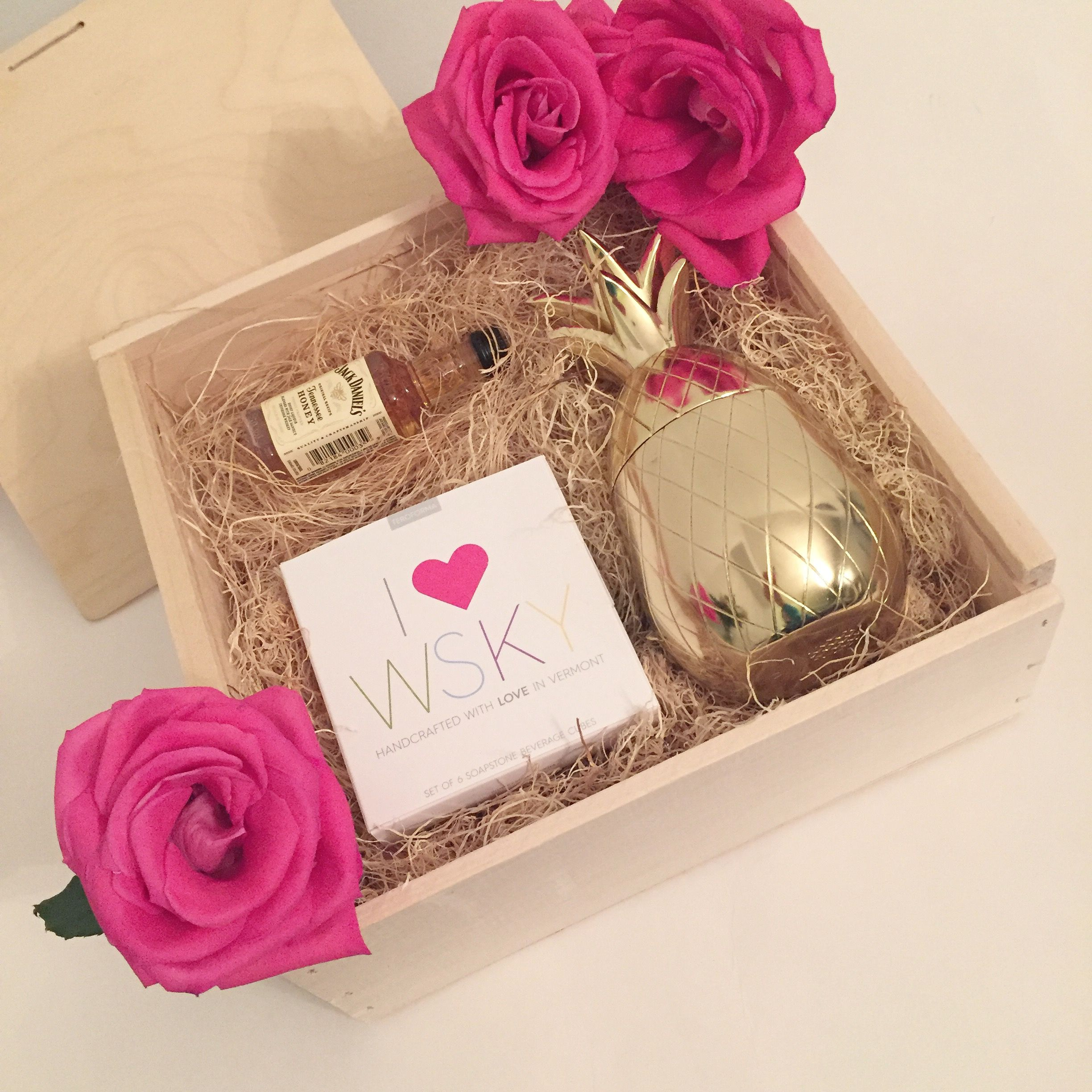 Themed Gift Box Ideas : Custom whiskey themed corporate gift box gifts for her