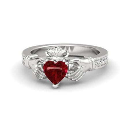 DESIGN YOUR CLADDAGH RING. select the metal, the center and the side stones