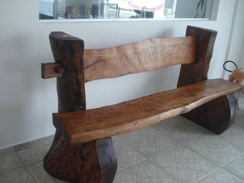 Banco em madeira de Jamel£o guapª MOVEIS RUSTICOS