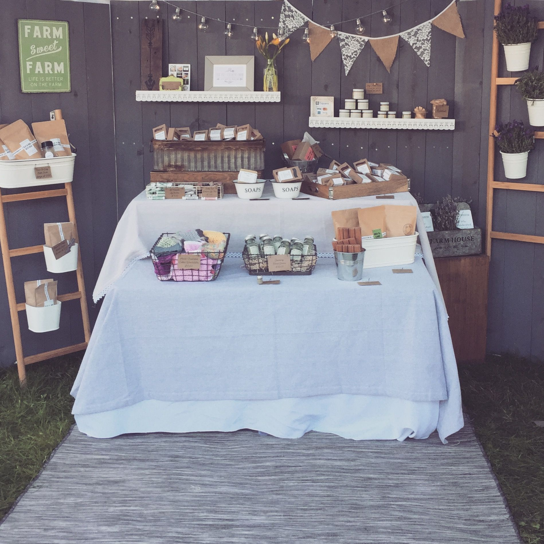 Figs and Feathers Farm booth display. #farmhouse #rustic #soap ...