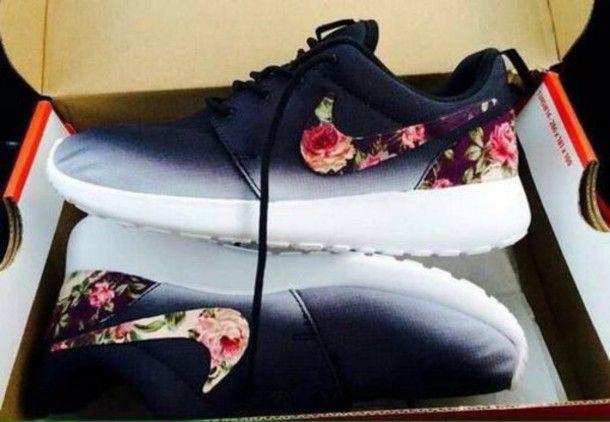 promo code 918bf c7e84 ... blanche b14a5 c9da3 purchase shoes nike nike free nike roshe flowers  blumen pik pretty help white black ombre cool coupon ...