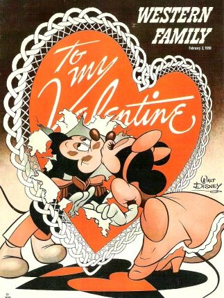 Hank Porter created this cover illustration for the February 2, 1950 issue of Western Family magazine. Porter created several dozen Disney covers for this publication beginning in the mid-1940s.