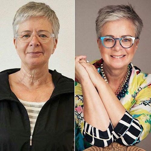 15 neue Kurzhaarschnitte für ältere Frauen mit feinem Haar | Trend Bob Frisuren 2019